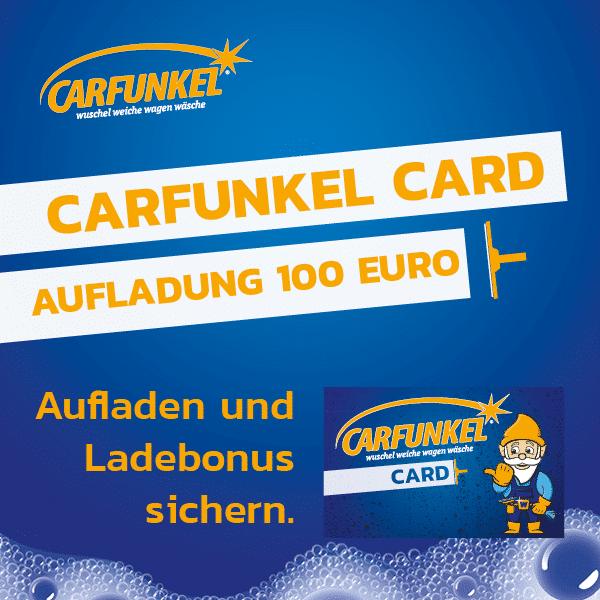 CARFUNKEL CARD Aufladung 100 Euro