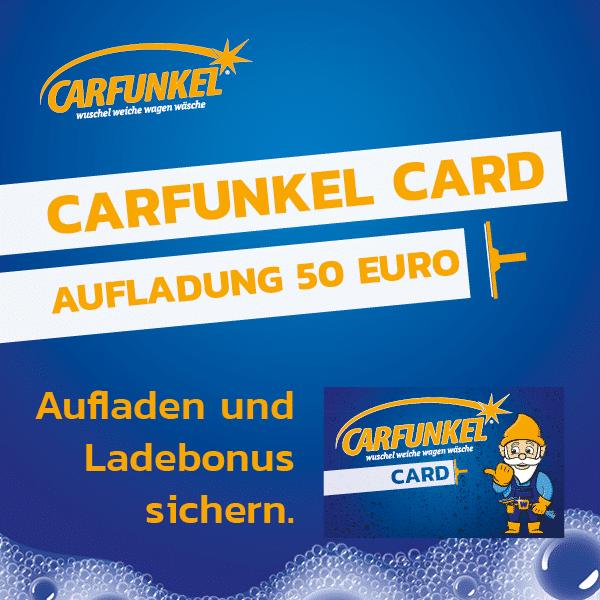 CARFUNKEL CARD Aufladung 50 Euro